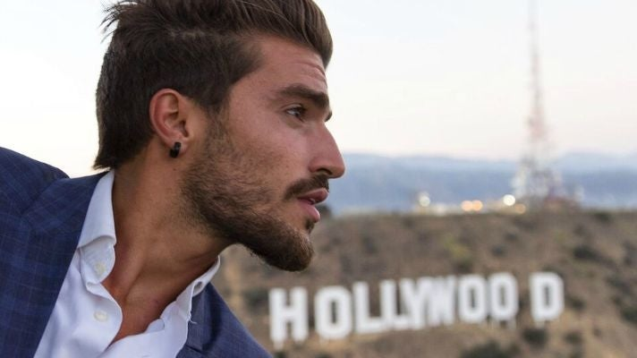 Mariano Di Vaio enjoys a helicopter ride over L.A.
