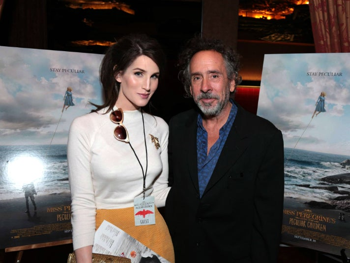 Christine McConnell and Tim Burton