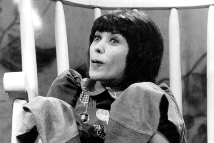 "Lily Tomlin as Edith Ann on ""Rowan & Martin's Laugh-In"""