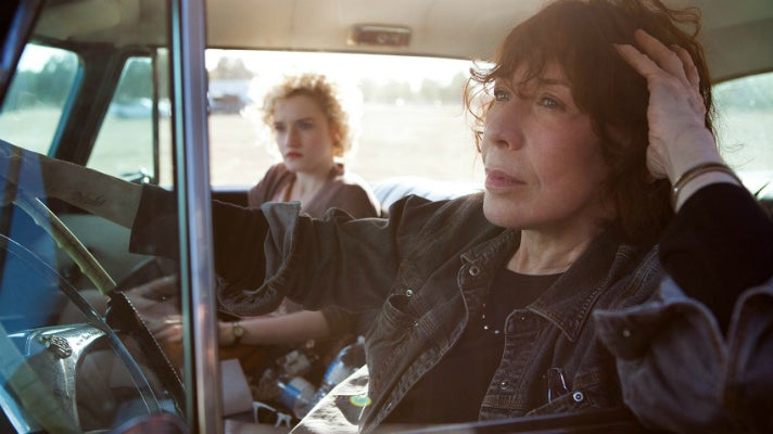 "Lily Tomlin and Julia Garner in ""Grandma"""