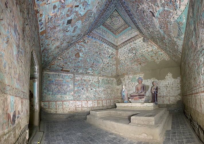 "Cave 85, view of the interior, from ""Cave Temples of Dunhuang"" at the Getty Center"