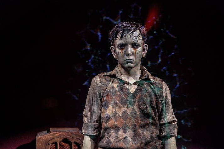 """Santi from """"The Devil's Backbone"""" at """"Guillermo del Toro: At Home with Monsters,"""" LACMA"""