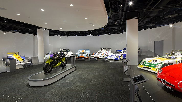 Motorsports gallery at Petersen Automotive Museum