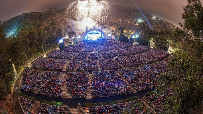 Aerial view of the Hollywood Bowl