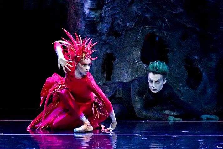 "Misty Copeland and Roman Zhurbin in ""Firebird"" by American Ballet Theatre"