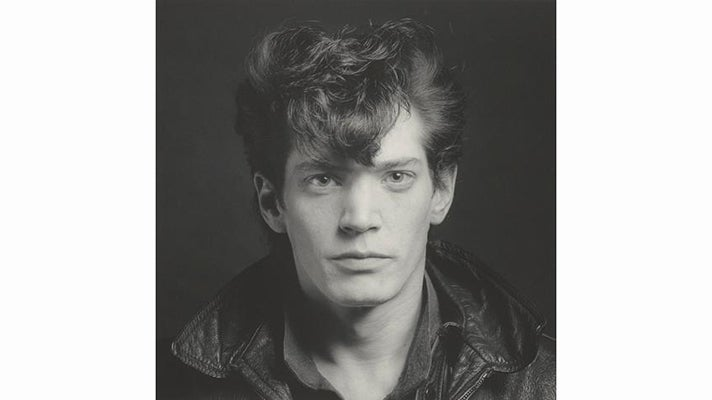 "Robert Mapplethorpe - ""Self-Portrait,"" negative 1980; print 1990"