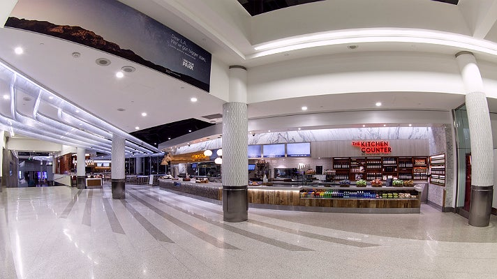 """""""Sunset Plaza"""" featuring Wolfgang Puck in Terminal 6 at LAX"""