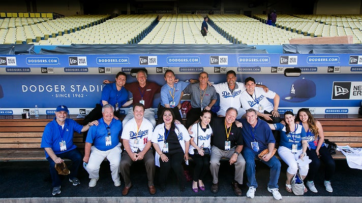 Group photo at Dodgers All-Access 2015