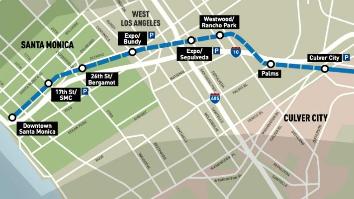 Map of Metro Expo Line Phase 2
