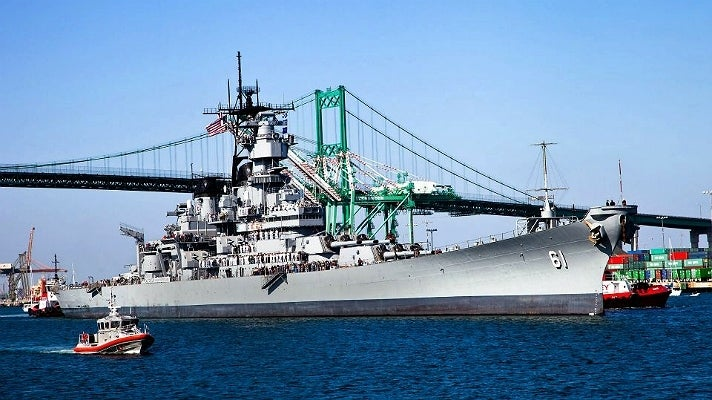Battleship IOWA makes its final journey along the L.A. Waterfront