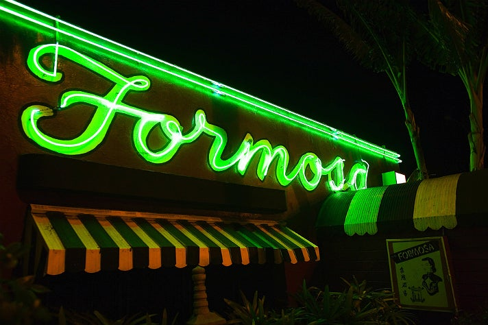 Neon sign at Formosa Café