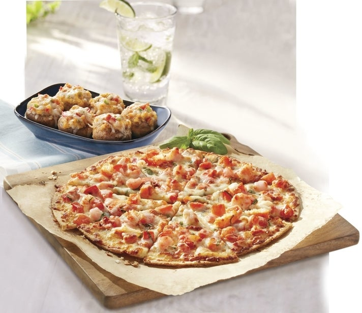 Lobster & Langostino Pizza and Seafood-Stuffed Mushrooms at Red Lobster