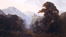 """""""Landscape with Ruin"""" by Robert Scott Duncanson at The Huntington"""