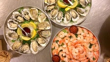 Oysters and shrimp at The Oyster Gourmet