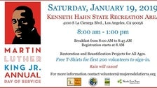 MLK Day of Service at Kenneth Hahn State Recreation Area