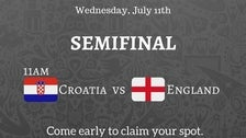 World Cup Semi Final 2018 at The Village Idiot