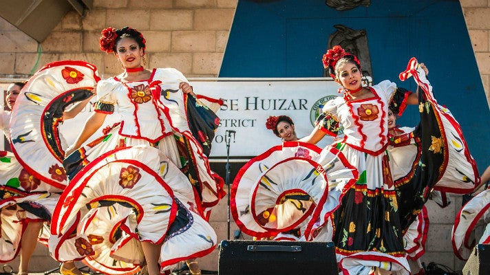 Dancers at Mariachi Plaza Festival