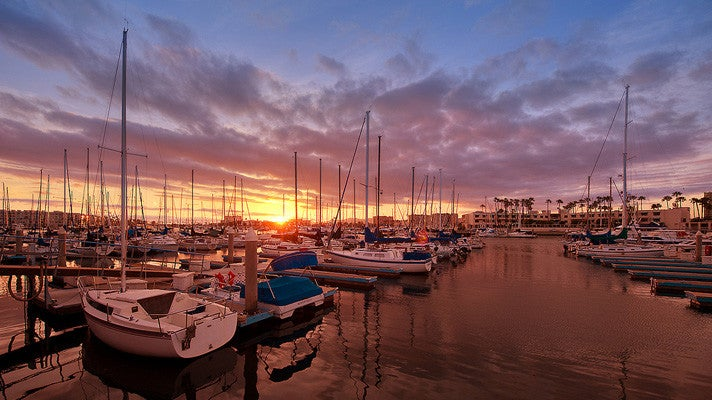 Marina del Rey at sunset