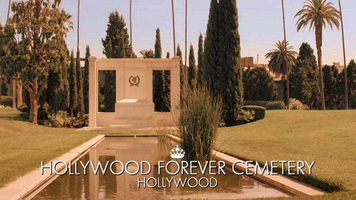 Mark-Francis Vandelli, Georgia Toffolo and Olivia Fox visit Hollywood Forever
