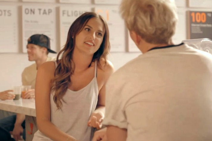 Lucy Watson and Jamie Laing at Juice Served Here in Venice
