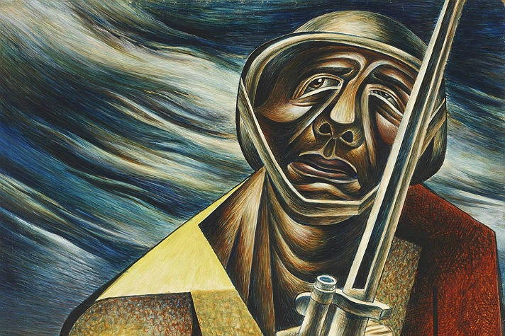"""""""Soldier"""" by Charles White at The Huntington"""