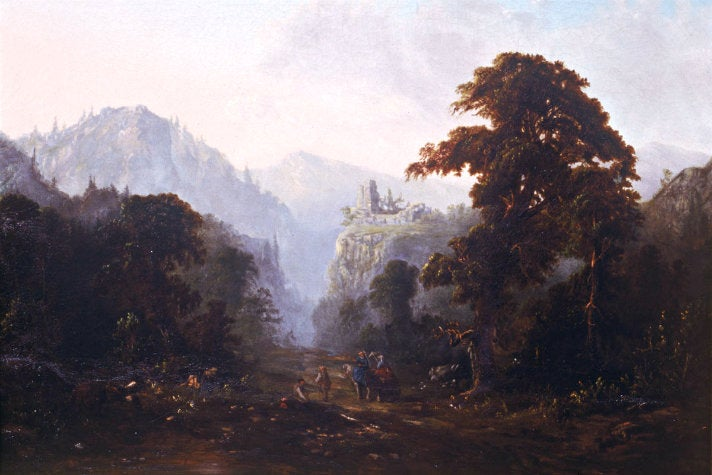 """Landscape with Ruin"" by Robert Scott Duncanson at The Huntington"