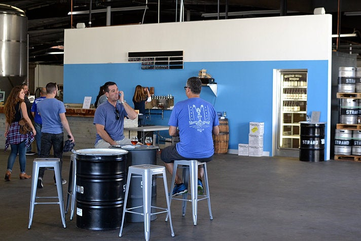 Tasting room at Strand Brewing
