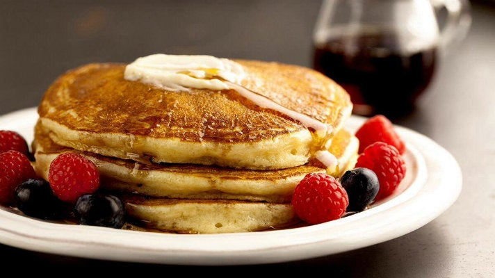 Pancakes with mixed berries at J. Nichols Kitchen