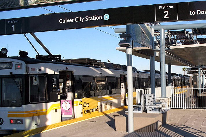 Metro Rail Expo Line Culver City Station