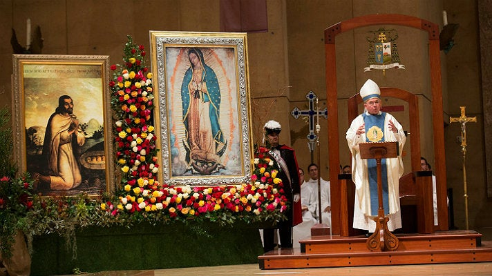 Midnight Mass celebrating Our Lady of Guadalupe