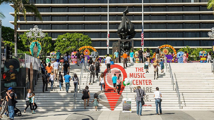 Music Center Plaza during Grand Avenue Arts