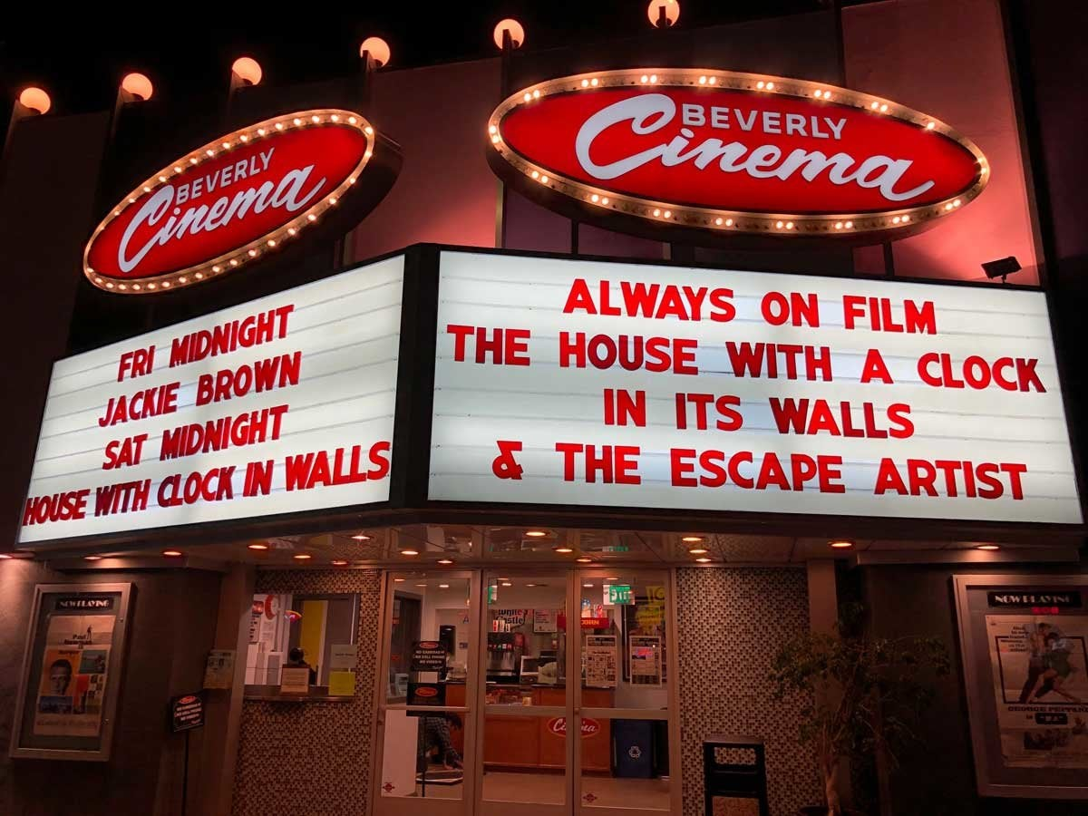 New Beverly Cinema marquee
