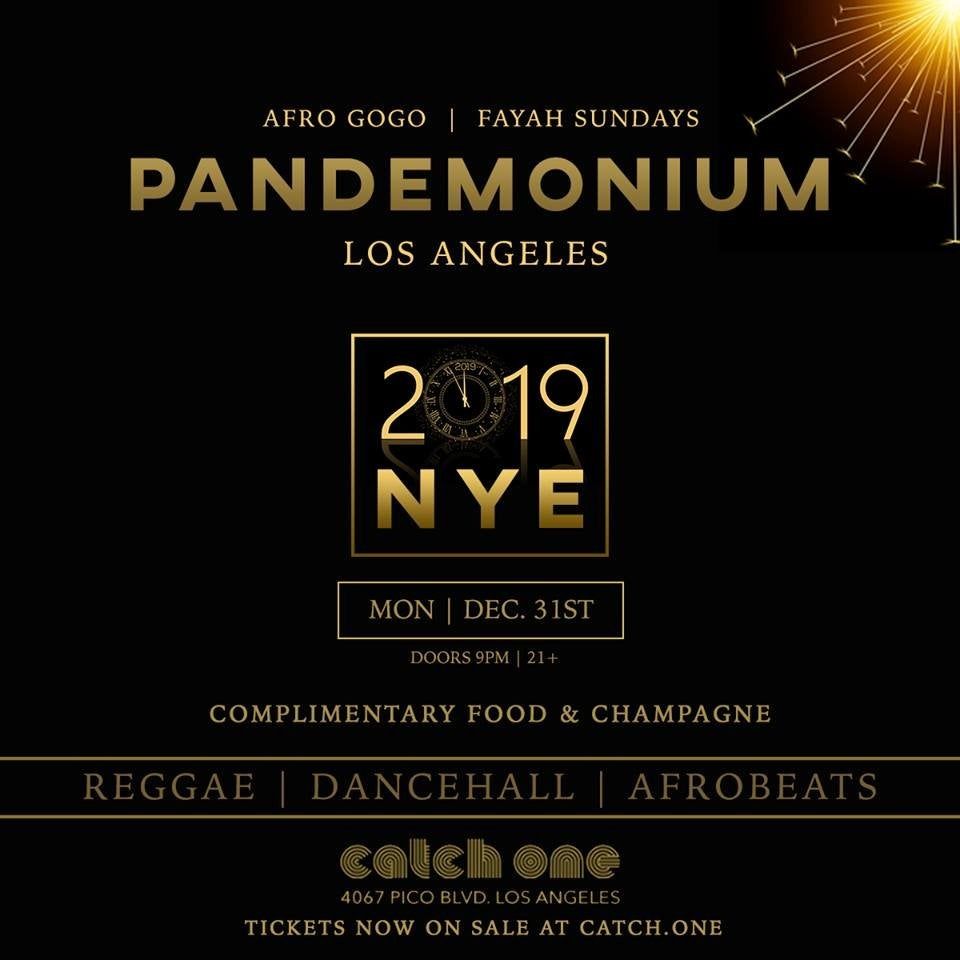 Pandemonium NYE 2019 at Catch One