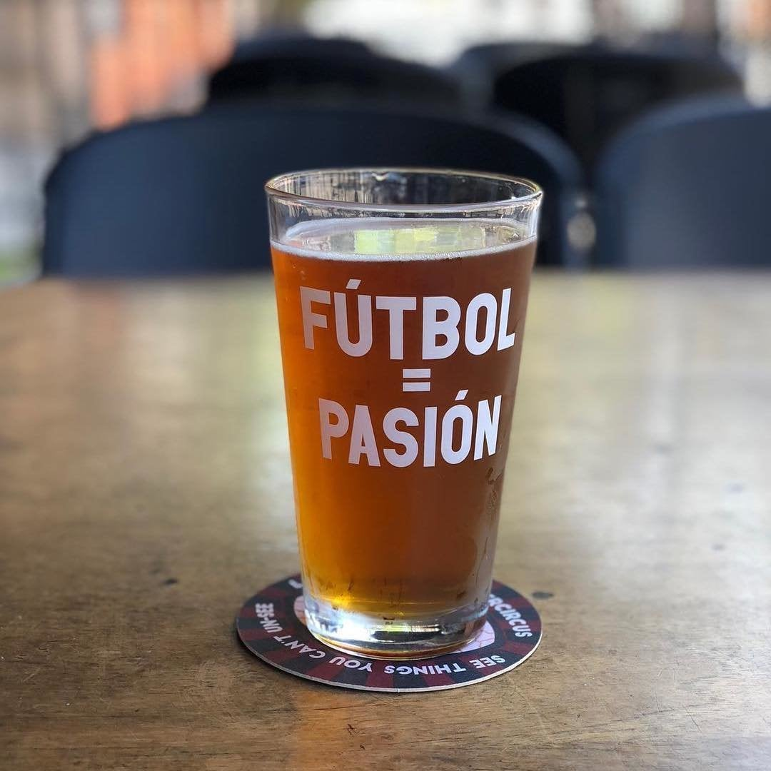 World Cup 2018 pint glass at The Fox and Hounds